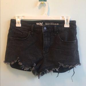 mossimo black hi rise jean shorts